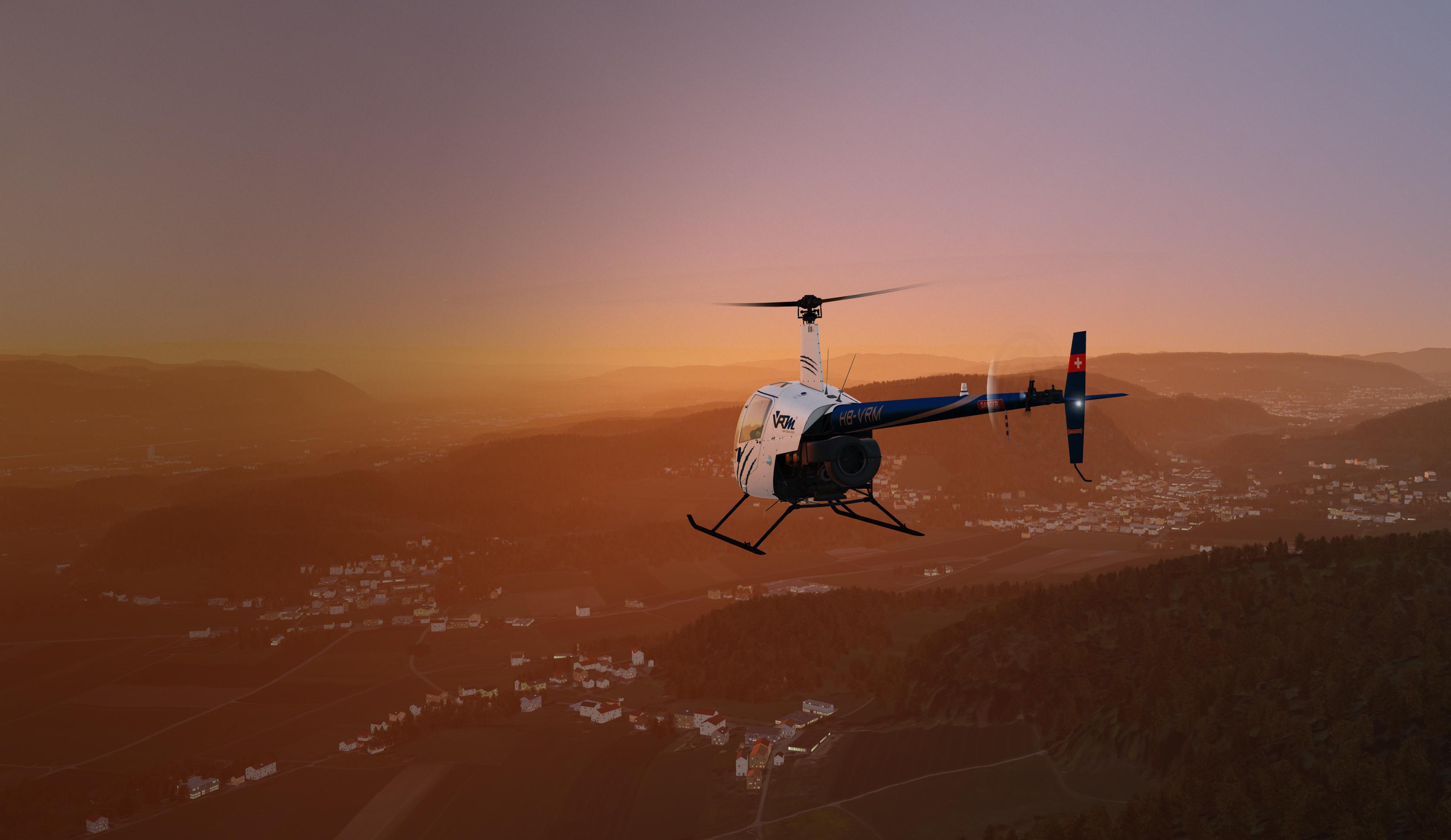 flight simulation in VR – Varjo and VRM Switzerland